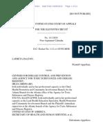 LaFreta Dalton v. Centers for Disease Control and Prevention, 11th Cir. (2015)