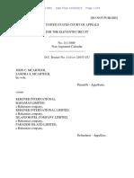 John C. McArthur v. Kerzner International Bahamas Limited, 11th Cir. (2015)