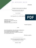 Dorothy McCullum v. Orlando Regional Healthcare System, Inc., 11th Cir. (2014)