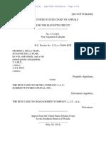 George L. De La Flor v. The Ritz-Carlton Hotel Company, LLC, 11th Cir. (2014)