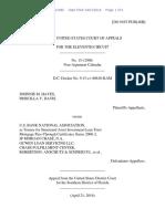 Johnnie M. Hayes v. U.S. Bank National Association, 11th Cir. (2016)