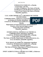 Coastal Petroleum Company, a Florida Corporation, and the United States Army Corps of Engineers, the State of Florida Department of Natural Resources and the Board of Trustees of the Internal Improvement Trust Fund of the State of Florida v. U.S.S. Agri-Chemicals, a Division of United States Steel Corporation, a Delaware Corporation Authorized to Do Business in Florida, Defendant- Coastal Petroleum Company and the State of Florida Department of Natural Resources and the Board of Trustees of the Internal Improvement Fund of the State of Florida v. International Minerals & Chemical Corporation, Coastal Petroleum Company, a Florida Corporation, the State of Florida, Department of Natural Resources, Etc., Involuntary v. W.R. Grace & Company, Coastal Petroleum Company, a Florida Corporation, the State of Florida, Department of Natural Resources, Involuntary v. Swift Agricultural Chemicals Corp., a Delaware Corporation, Authorized to Do Business in Florida, Now Estech General Chemicals Corpo
