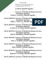 Bobby Huie v. Otis R. Bowen, Secretary of Health and Human Services, Fannie P. Alston v. Otis R. Bowen, Secretary of Health and Human Services, Willie C. West, Jr. v. Otis R. Bowen, Secretary of Health and Human Services, Arvetter D. Tucker v. Otis R. Bowen, Secretary of Health and Human Services, John D. McKibben v. Otis R. Bowen, Secretary of Health and Human Services, Mary A. Harris v. Otis R. Bowen, Secretary of Health and Human Services, Edna Norris v. Otis R. Bowen, Secretary of Health and Human Services, Richard F. Tucker v. Otis R. Bowen, Secretary of Health and Human Services, Jasper Smith v. Otis R. Bowen, Secretary of Health and Human Services, Aubrey L. Rogers, Cross-Appellant v. Otis R. Bowen, Secretary of Health and Human Services, Cross-Appellee. Katheryn L. Scott v. Otis R. Bowen, Secretary of Health and Human Services, Douglas Romine v. Otis R. Bowen, Secretary of Health and Human Services, John D. Moore v. Otis R. Bowen, Secretary of Health and Human Services, Charles