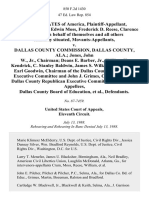 United States of America, Samson Crum, Sr., Edwin Moss, Frederick D. Reese, Clarence Williams, on Behalf of Themselves and All Others Similarly Situated, Movants-Appellants v. Dallas County Commission, Dallas County, Ala. Jones, John W., Jr., Chairman Deans E. Barber, Jr., William H. Kendrick, C. Stanley Baldwin, James S. Wilkinson, Members, Earl Goodwin, Chairman of the Dallas County Democratic Executive Committee and John J. Grimes, Chairman of the Dallas County Republican Executive Committee, Dallas County Board of Education, 850 F.2d 1430, 11th Cir. (1988)