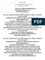 International Brotherhood of Boilermakers v. Local Lodge D238 of the Cement, Lime, Gypsum and Allied Workers Division of the International Brotherhood of Boilermakers, George Smith, Jr., Individually and as President of Local Lodge D238 Larry Burden, Individually and as Recording Secretary of Local Lodge D238 Charlie C. Hill, Iii, Individually and as Financial Secretary of Local Lodge D238 and Independent Workers of North America, an Unincorporated Association, International Brotherhood of Boilermakers v. Local Lodge D237 of the Cement, Lime, Gypsum and Allied Workers Division of the International Brotherhood of Boilermakers, Walter Rickerson, Individually and as President of Local Lodge D237 Joe Stuckey, Individually and as Recording Secretary of Local Lodge D237 John Williams, Individually and as Financial Secretary of Local Lodge D237 and Independent Workers of North America, an Unincorporated Association, International Brotherhood of Boilermakers v. Local Lodge D233 of the Cement,