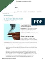 El Incienso Es Más Tóxico Que El Tabaco _ OCU Consumity