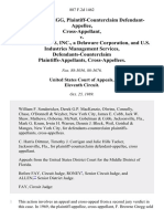 F. Browne Gregg, Plaintiff-Counterclaim Cross-Appellant v. U.S. Industries, Inc., a Delaware Corporation, and U.S. Industries Management Services, Defendants-Counterclaim Cross-Appellees, 887 F.2d 1462, 11th Cir. (1989)