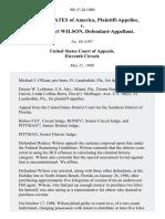 United States v. Rodney Earl Wilson, 901 F.2d 1000, 11th Cir. (1990)