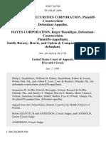 Interstate Securities Corporation, Plaintiff-Counterclaim v. Hayes Corporation, Roger Haendiges, Defendant-Counterclaim Smith, Barney, Harris, and Uptem & Company, Counterclaim-Defendant, 920 F.2d 769, 11th Cir. (1991)