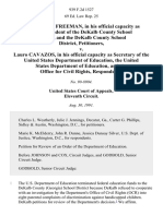 Dr. Robert R. Freeman, in His Official Capacity as Superintendent of the Dekalb County School District, and the Dekalb County School District v. Lauro Cavazos, in His Official Capacity as Secretary of the United States Department of Education, the United States Department of Education, and the Office for Civil Rights, 939 F.2d 1527, 11th Cir. (1991)