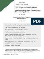 United States v. Manuel Costa, Debra Maxine Perry, Rene Totorica Nunez, 947 F.2d 919, 11th Cir. (1991)