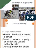 Vehicle Tax in Yogyakarta Region tax (pajak kendaraaan provinsi)