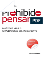 Prohibido Pensar. Parásitos Versus Catalizadores Del Pensamiento - Muñoz Redón, Josep