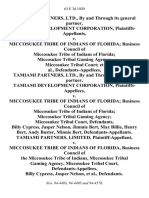 Tamiami Partners, Ltd., by and Through Its General Partner, Tamiami Development Corporation v. Miccosukee Tribe of Indians of Florida Business Council of Miccosukee Tribe of Indians of Florida Miccosukee Tribal Gaming Agency Miccosukee Tribal Court, Tamiami Partners, Ltd., by and Through Its General Partner, Tamiami Development Corporation v. Miccosukee Tribe of Indians of Florida Business Council of Miccosukee Tribe of Indians of Florida Miccosukee Tribal Gaming Agency Miccosukee Tribal Court, Billy Cypress, Jasper Nelson, Jimmie Bert, Max Billie, Henry Bert, Andy Buster, Minnie Bert, Tamiami Partners, Limited v. Miccosukee Tribe of Indians of Florida, Business Council of the Miccosukee Tribe of Indians, Miccosukee Tribal Gaming Agency, Miccosukee Tribal Court, Billy Cypress, Jasper Nelson, 63 F.3d 1030, 11th Cir. (1995)