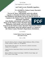 Suissa v. Fulton County, GA, 74 F.3d 266, 11th Cir. (1996)