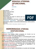 Hemorragia Uterina Disfuncional Diagnostico (1)