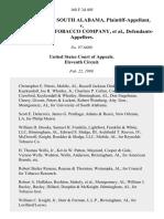 Univ. of South AL v. Amer. Tobacco, 168 F.3d 405, 11th Cir. (1999)