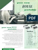 Royal Portable Manual