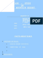 Case Study on Blue-Mountain Resort