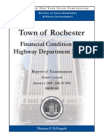 Town of Rochester audit by NY state comptroller, 2010-15