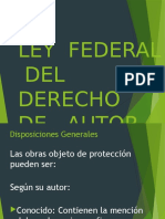 Ley Fed. Derechos de Autor