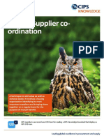 Supplier Co Ordination