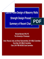 Out of Plane Design of Masonry Walls Strength Design Example