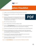 Reconciliation Checklist