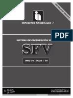 RND10-0021-16 - SISTEMA DE FACTURACIÓN VIRTUAL