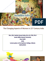 Changing Aspects of Women in 21st Century India