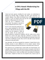 CW Associates CPA's Hawaii - Modernizing Fax Filings With the IRS