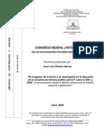 Iniciativa Reforma Politica D.F. mexicano en 2001