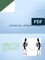 Lenguaje , Lengua, y Habla