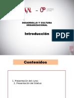 DESARROLLO Y CULTURA ORGANIZACIONAL