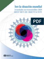 Informe Sobre La Situación Mundial de Las Enfermedades No Transmisibles 2010 Ncd Report Summary Es