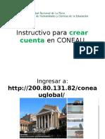 Instructivo Para Crear Cuenta en CONEAU
