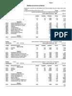 Analisis de Costos Unitarios Planta Alto de Lima Vr-02