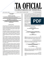 Gaceta Oficial Extraordinaria Nº 6.240