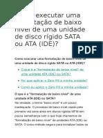 Como Executar Uma Formatação de Baixo Nível de Uma Unidade de Disco Rígido SATA Ou ATA (IDE)