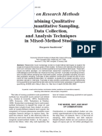 Combining Qualitative and Quantitative Data Sampling and Analysis Mixed Methods