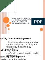 Working Capital Management Fundamentals