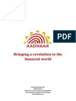 Aadhaar in the Financial World 06032014