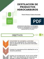 Destilación de productos hidrocarburos
