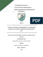 Articulo Científico - Universidad de Huanuco