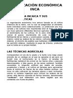 Organización Económica Inca