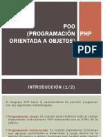 POO (Programación Orientada a Objetos) - PHP