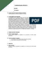 Elaboracion Del Proyecto Metodologia de La Investigacion