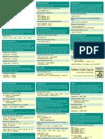 Beginners Python Cheat Sheet Pcc Lists