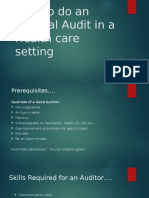 How to do an Internal Audit in a Healthcare setting