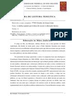 Ficha de Leitura - Ciência Política, Estado e Constituição